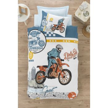 Cotton Box Teenager Room Single Set Complete - Cross Blue ctn378