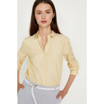 Women's Yellow Shirt 9KAK68766PW