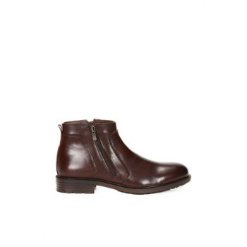 Men's Genuine Leather Brown Boots 120130003276