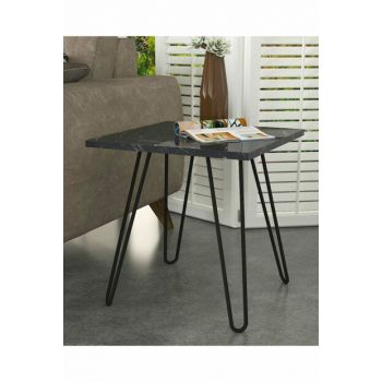 Helen Side Table with Metal Leg Marble 8681506226747