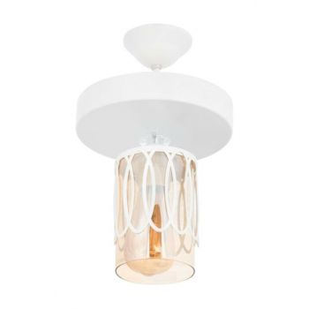 Swan Special Motif White Pendent Round Single Chandelier 0544