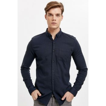 Men's Navy Blue Shirt 8W0878Z8
