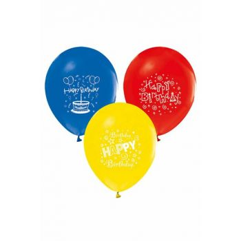"Pastel Balloon with Toy Printed 100 ""12Cm 8697426900087"