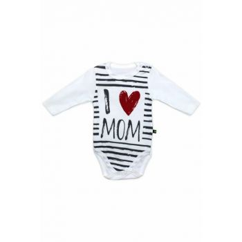 I Love Mom Long Sleeve Baby Badge K2319
