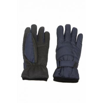 Men's Navy Blue Velcro Ski Gloves J4947AZ.18WN.NV2