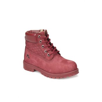 Red Girls' Leather Boots 000000000100284633