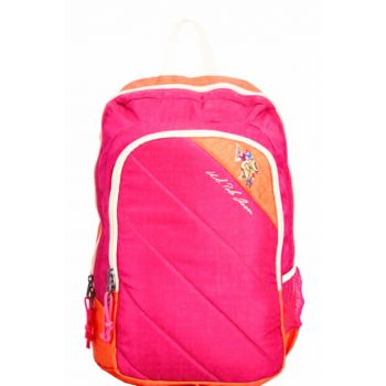 Two Compartment Pink-Orange Backpack Plçan6377 PLCAN6377