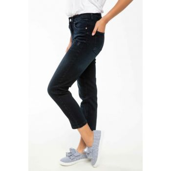 Women's Navy Blue Susana Slim Denim Pants J4119AZ.18AU.NV48