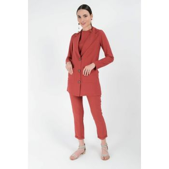 Women's Pomegranate Flower Pants Suit 8134