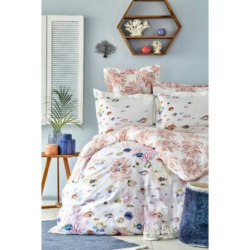 Mag Coral Coral Rnf Double Linens Set 201.14.01.0002