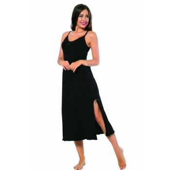 Women's Long Nightgown with Strap 901