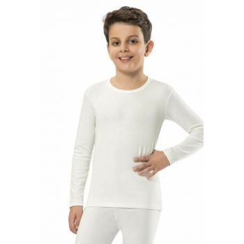 Unisex Ecru Thermal Single Top-903