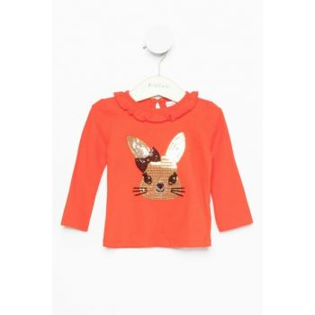 Red Baby Girl Rabbit Figure Printed Body J8273A2.18AU.RD227