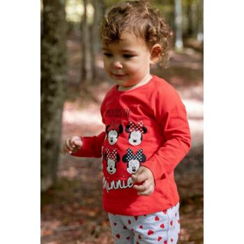 Ecru Baby Girl Minnie Mouse Licensed Long Sleeve Body J8269A2.18AU.ER105