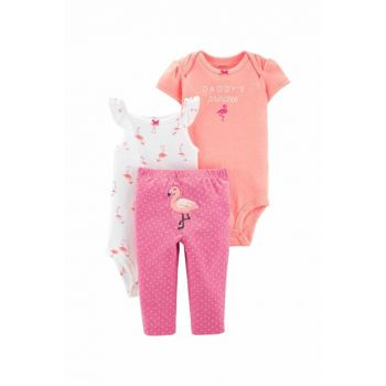 Pink Layette Baby Girl 3-Piece Set 16627911