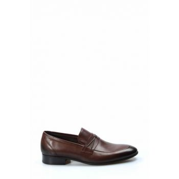 Genuine Leather Brown Men Classic Shoes 1850110