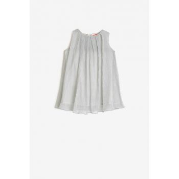 Gray Baby Girl Cycling Collar Dress 0KMG87044AK