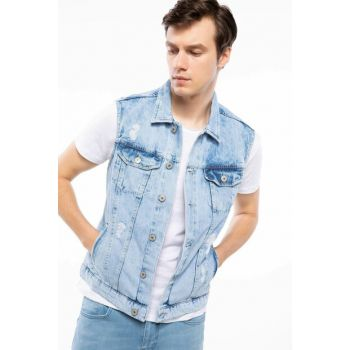 Men's Denim Vest J0698AZ.18AU.NM39