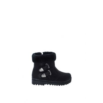 Black Children's Boots Ea27Of27250-596