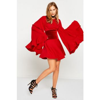 Women's Red Mini Dress 8KAK84018ZW 8KAK84018ZW