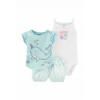 Blue Layette Baby Girl 3-Piece Set 16633110