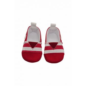 Red Unisex Baby Booties FRSTEPG2073