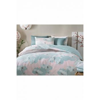 Heron Flies Cotton Double Duvet Cover 200x220 Cm Pink 10024699