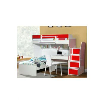Bold Bunk Bed Bedside table Red 111