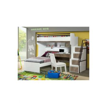 Bueno Bunk bed Bedside table Walnut 132