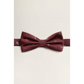 Men's Burgundy Jacquard Silk Bow Tie 53060850