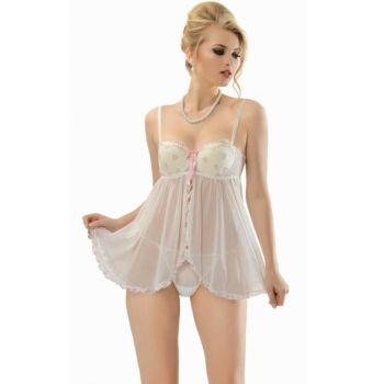 Women's Ecru Strapless Covered Nightgown NBB 3221