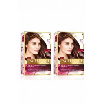 Excellence Creme Hair Dye 5.15 Legendary Turkish Coffee Set of 2 36005209710562 PKTTURKKHVESSCBYS