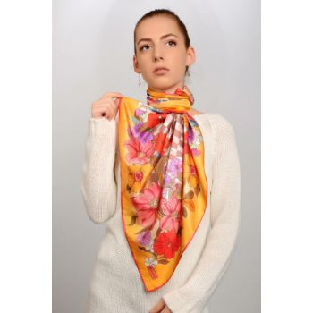 Patterned Satin Scarf 5306131055