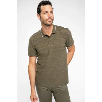 Men's Khaki Modern Fit Polo T-shirt J0547AZ.18AU.KH50