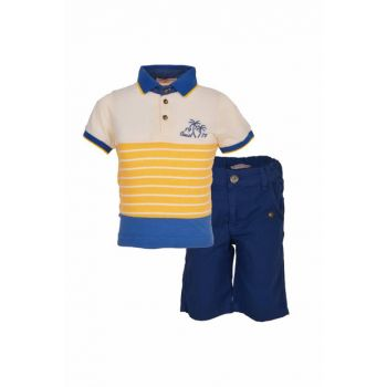 Boys' Collared T-Shirt Shorts Set 2-6 Age 18572 M18572