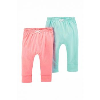 Pink Layette Baby Girl Trousers With Pants 16640110