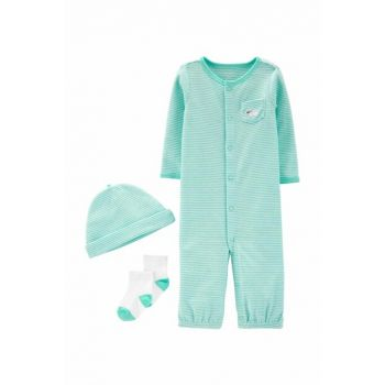 Turquoise Layette Baby Boy Set of 3 16742510