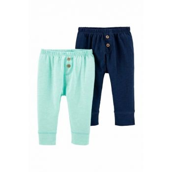 Turquoise Layette Baby Boy 2 Pants 16641510