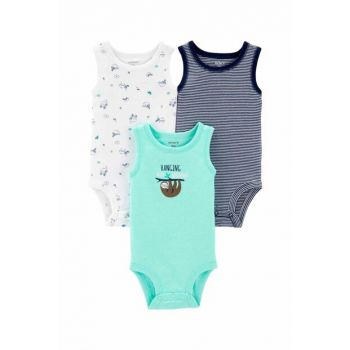 Turquoise Layette Baby Boy 3 Pieces Body 16743910