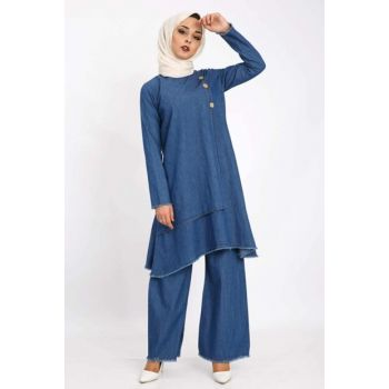 Women's Dark Blue Covered Double Suit TSD1650