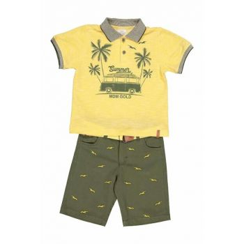 Boys' T-Shirt Shorts Set of 2 2-5 Years Old Yellow 19245 M19245SARI