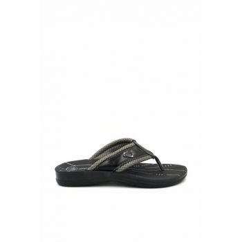 Black Men's Slippers gzr11794