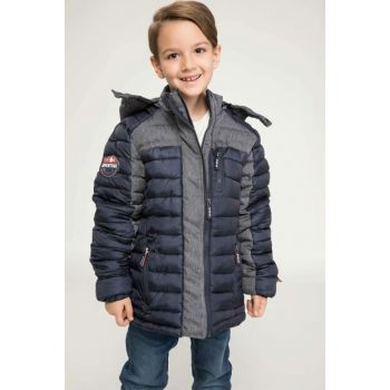 Hooded Color Blocked Slim Fit Inflatable Coat J1861A6.18WN.IN184