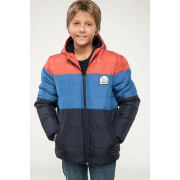 Indigo Blue Boy Inflatable Coat with Hoodie I9870A6.18AU.IN184