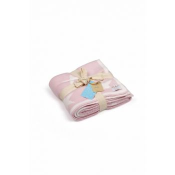 Knitted Baby blanket 90x90cm BB16008PINK