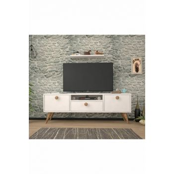 Penta White Atlantic Pine 140 Cm Tv Stand BENA009BAT