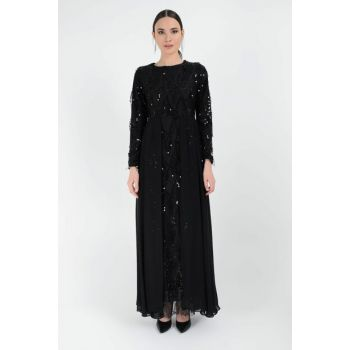 Women's Black Sequin Dress 3260