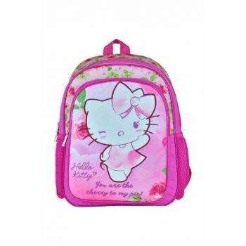 Hello Kitty Pink Girls' Primary School Backpack - Two Compartments HKN95311