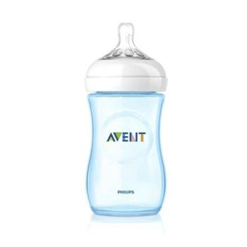 Natural Feeding Bottle 260Ml Single - Blue 8710103624486