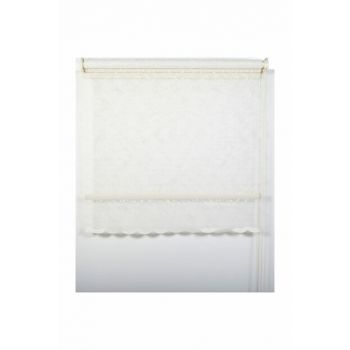 200x260 Double Mechanism Drop Pattern Silvery Tulle Roller Blinds A1003591